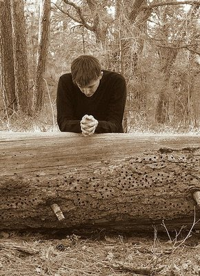 Image result for Photo praying in the woods